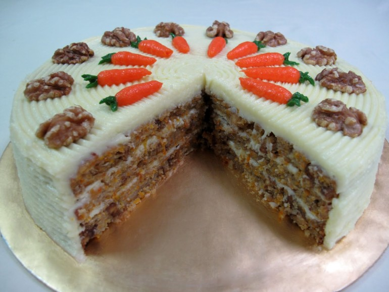 Carrot Cake Made With Walnut Oil