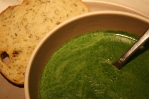 Spinach Green Garlic Soup