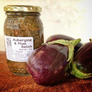 Aubergine & plum relish
