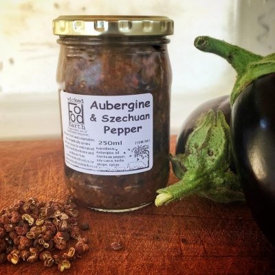 Aubergine and szechuan pepper