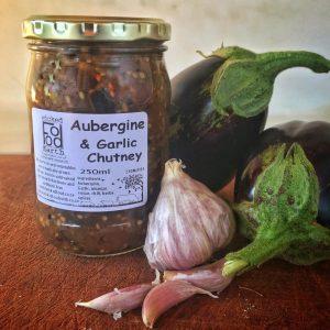 Aubergine and garlic chutney